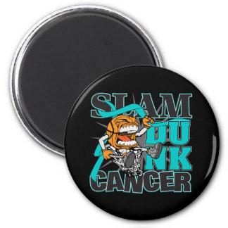 Ovarian Cancer - Slam Dunk Cancer Refrigerator Magnets