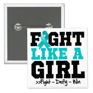 Ovarian Cancer Sporty Fight Like a Girl Pins