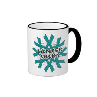 Ovarian Cancer Sucks Ringer Coffee Mug