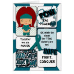 Ovarian Cancer Super Hero Card