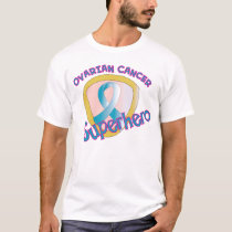 Ovarian Cancer Superhero T-Shirt