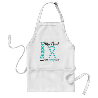 Ovarian Cancer Support Aunt With All My Heart Adult Apron