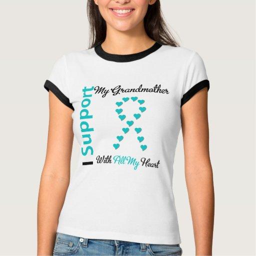 Ovarian Cancer Support Grandmother All My Heart Shirt