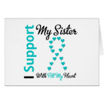 Ovarian Cancer Support Sister With All My Heart Greeting Card