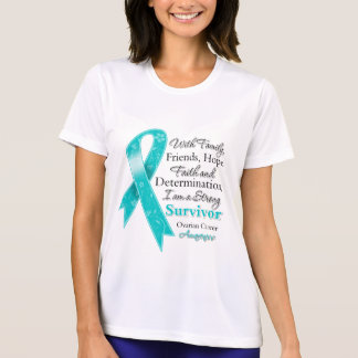 Ovarian Cancer Support Strong Survivor T-shirts
