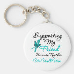 Ovarian Cancer Supporting My Friend Key Chain