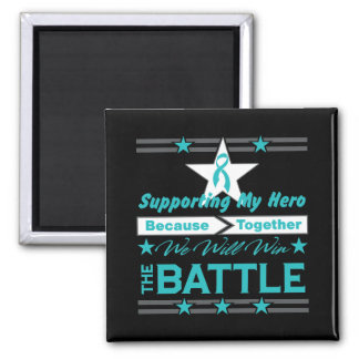 Ovarian Cancer Supporting My Hero Fridge Magnets