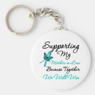 Ovarian Cancer Supporting My Mother-in-Law Keychain
