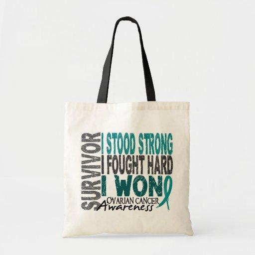 Ovarian Cancer Survivor 4 Canvas Bags