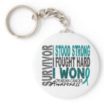 Ovarian Cancer Survivor 4 Keychain