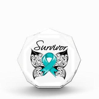 Ovarian Cancer Survivor Butterfly Acrylic Award