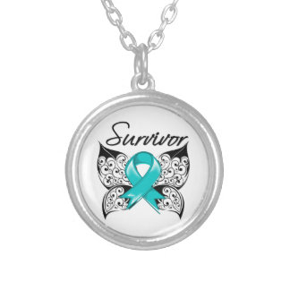 Ovarian Cancer Survivor Butterfly Necklaces