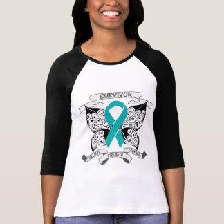 Ovarian Cancer Survivor Butterfly Strength T Shirts