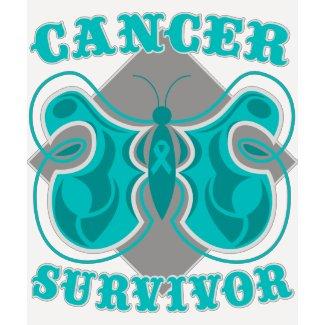 Ovarian Cancer Survivor Butterfly shirt