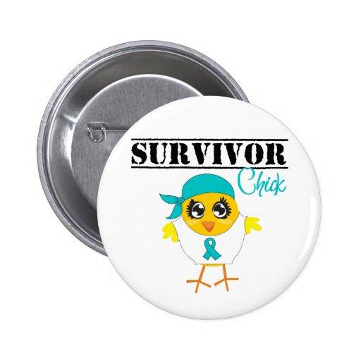 Ovarian Cancer Survivor Chick Pins