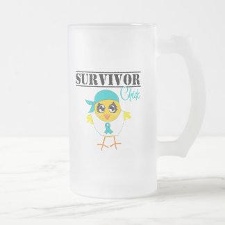 Ovarian Cancer Survivor Chick Coffee Mugs