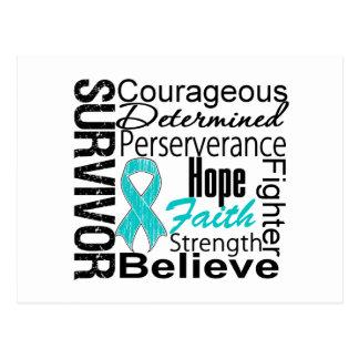 Ovarian Cancer Survivor Collage Postcard