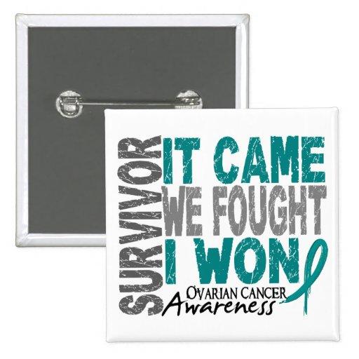 Ovarian Cancer Survivor It Came We Fought I Won Button