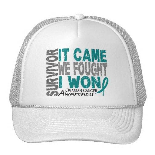 Ovarian Cancer Survivor It Came We Fought I Won Trucker Hats