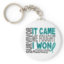 Ovarian Cancer Survivor It Came We Fought I Won Keychain