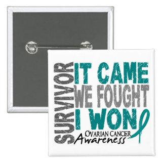 Ovarian Cancer Survivor It Came We Fought I Won Pinback Button