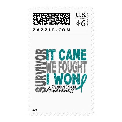 Ovarian Cancer Survivor It Came We Fought I Won Postage Stamp