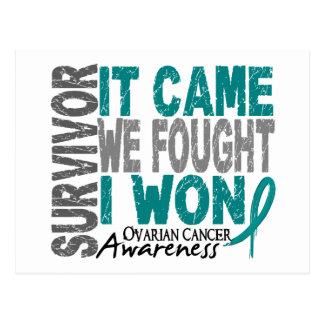 Ovarian Cancer Survivor It Came We Fought I Won Postcard