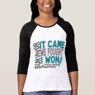 Ovarian Cancer Survivor It Came We Fought I Won Tshirts