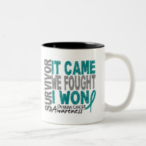Ovarian Cancer Survivor It Came We Fought I Won Two-Tone Coffee Mug