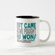 Ovarian Cancer Survivor It Came We Fought I Won Two-Tone Coffee Mug