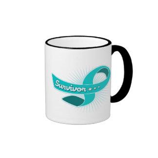 Ovarian Cancer Survivor Ribbon Ringer Mug