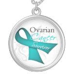 Ovarian Cancer Survivor Round Pendant Necklace