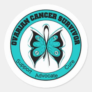 OVARIAN CANCER SURVIVOR T-Shirts Sticker