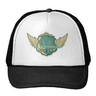 Ovarian Cancer Survivor Vintage Winged Trucker Hat