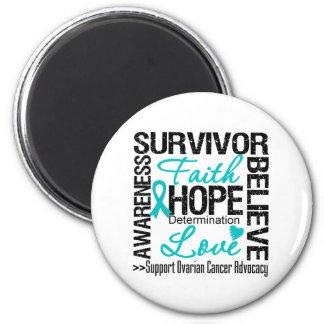 Ovarian Cancer Survivors Motto 2 Inch Round Magnet