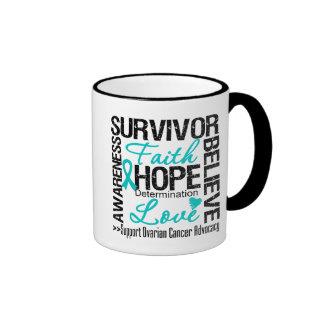 Ovarian Cancer Survivors Motto Ringer Coffee Mug
