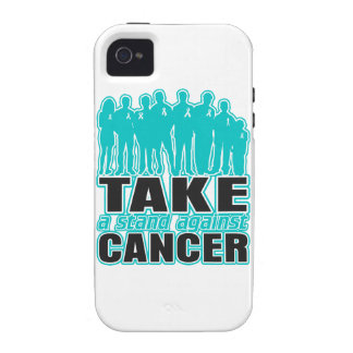 Ovarian Cancer -Take A Stand Against Cancer Vibe iPhone 4 Cover