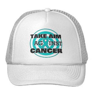 Ovarian Cancer Take Aim Against Cancer Trucker Hat