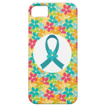 Ovarian Cancer Teal Awareness Ribbon iPhone SE/5/5s Case