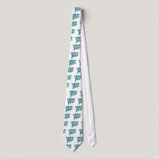 Ovarian Cancer Teal Awareness Ribbon Template Neck Tie