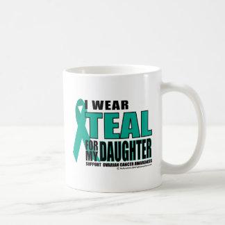 Ovarian Cancer Teal For Daughter Coffee Mug