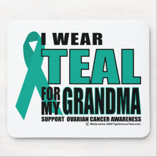 Ovarian Cancer Teal For Grandma Mouse Pad