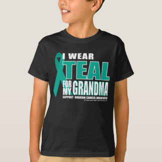 Ovarian Cancer Teal For Grandma T-Shirt