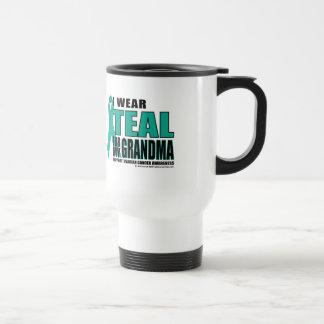 Ovarian Cancer Teal For Grandma Travel Mug