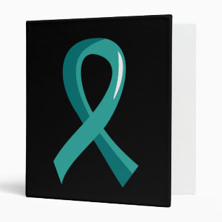 Ovarian Cancer Teal Ribbon 3 Binder