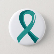 Ovarian Cancer Teal Ribbon 3 Button