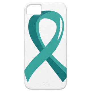 Ovarian Cancer Teal Ribbon 3 iPhone SE/5/5s Case