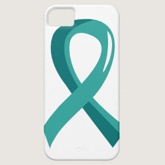 Ovarian Cancer Teal Ribbon 3 iPhone SE/5/5s Case