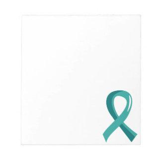 Ovarian Cancer Teal Ribbon 3 Notepad