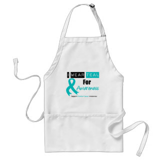 Ovarian Cancer Teal Ribbon For Awareness Apron